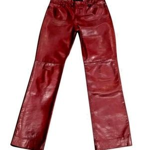 VINTAGE Earl Jeans  Leather Red/Burgundy